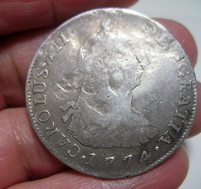 1774 JR (BOLIVIA-POTOSI) 4 REALES (SILVER) ---- COLONIES--- very scarce---