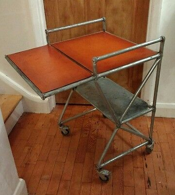 Vintage Hospital Industrial Trolley - Bar Table Medical Laboratory Display
