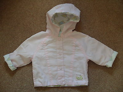 Girls Boots Pink Hooded Jacket Coat with animal lining Age 3-6 months
