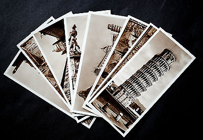 Set of 8 x real photo postcards of Pisa by Angeli Terni, mid C20th. Unusual size