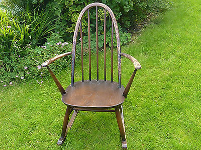 Vintage Mid Century Blue Label Ercol Rocking Chair For Child / Nursing / Adult