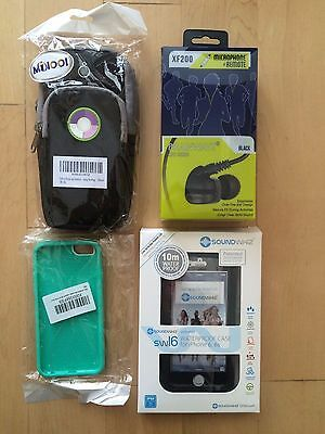 NEW - Sport Bundle For iPhone 6 Waterproof case, Quality Headphones, Arm Band...
