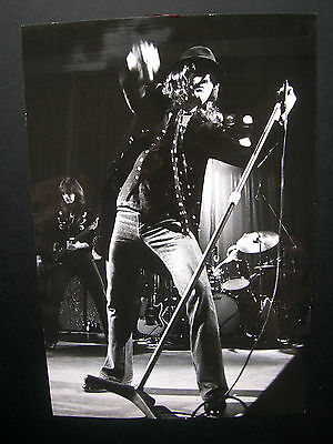 """Frankie Miller on stage- Rare Original dated 1977 Local Press Photo 11""""x 8"""""""