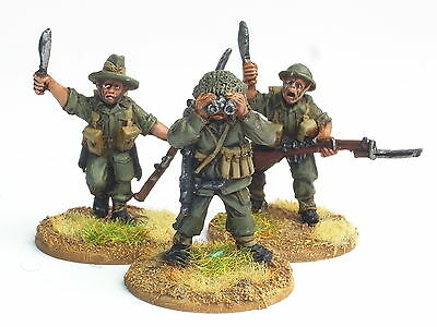 Wwii 28Mm Gurkha Bolt Action Army. 45 Metal Figures. Painted