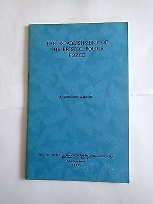The Establishment of the Bristol Police Force, Roger Walters (1975)