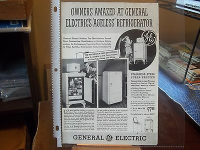 vintage print ad, 1935 General Electric, Super - Freezer