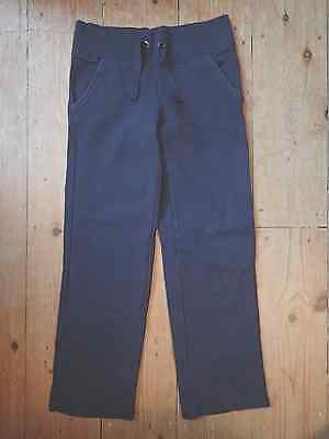 Girls M&s Navy Joggers Trousers - Age 8-9 Years
