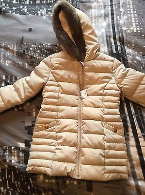 BNWT New Girls Padded Coat/jacket Age 4-5 Years Hooded