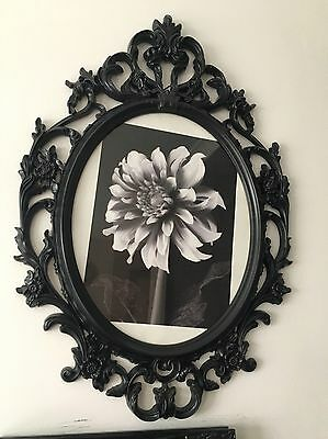 Rococo Ornate Large Black Carved Picture Frame Shabby Chic Photo
