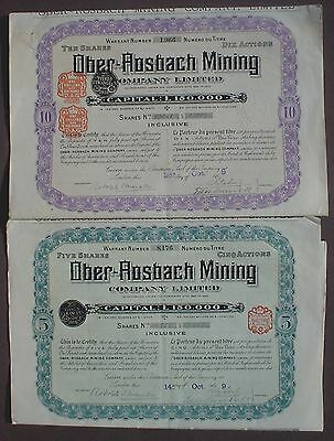 2 x Ober Rosbach Mining 1909