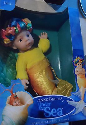 "Anne Geddes Mermaid Baby Doll ""Under the Sea"" Bean Filled Collection"