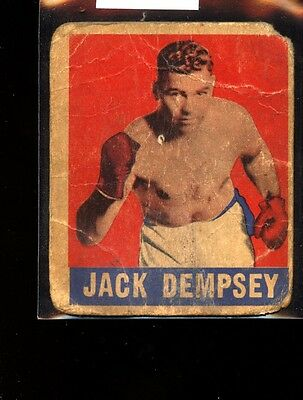 1948 Leaf Boxing Greats Jack Dempsey Poor C025337
