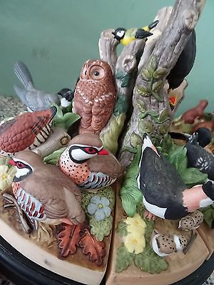 DANBURY MINT Fine Porcelain Birds of the Forrest Turnstyle Figurine Collection