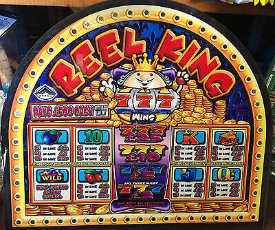 £500 REEL KING Top Sign from fruit machine (Plastic Original - Not Glass)