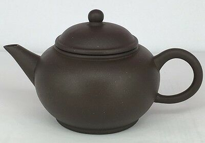 20th Century Chinese Yixing zisha teapot with markings 4-cup size 60 cc