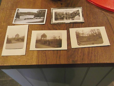 5 Old Postcards Of Roundhay Park Leeds Circa 1913