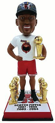 "SCOTTIE PIPPEN Chicago Bulls ""6x CHAMP HARDWARE"" EXCLUSIVE Bobblehead IN STOCK!"