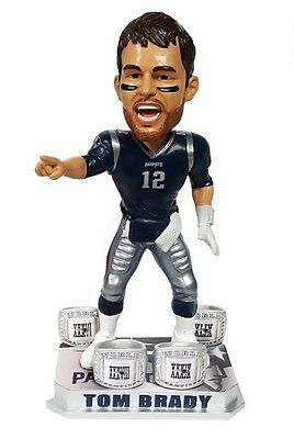 "TOM BRADY New England Patriots EXCLUSIVE ""4x Ring Champ"" Bobblehead IN STOCK!"