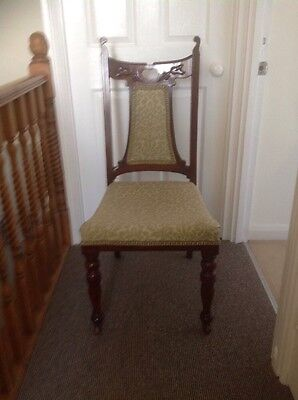Antique Victorian/Edwardian Nursing; Bedroom; Hall Chair In Exc.Condition