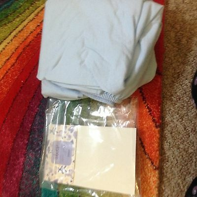 Brand New Unused Cot Sheets Blue Boy Fitted Cotton