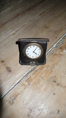 Antique or Vintage Folding Travel Clock for Restoration