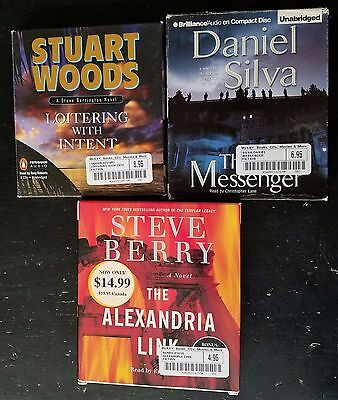 Lot of 3 Mystery/Thriller/Suspense Audiobooks on CD