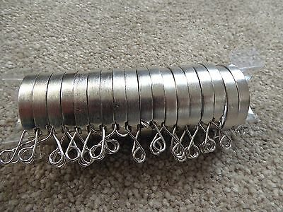 Brushed Steel Curtain Rings 28mm 18 New