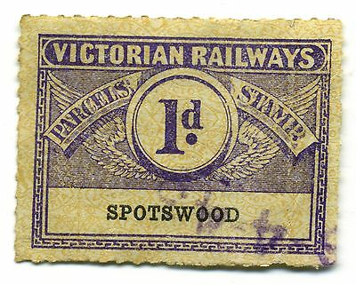 1 Penny - Spotswood Train Station - Victorian Railways Parcels Stamp