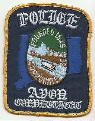 Avon CONNECTICUT CT Police Sheriff patch OLD canal barge