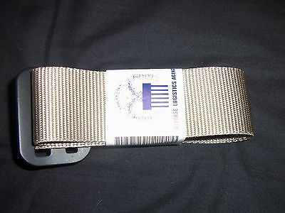 BELT RIGGERS 44 SAND / TAN COLOR MADE USA GENUINE USA MILITARY ISSUE NEW in Pkg.