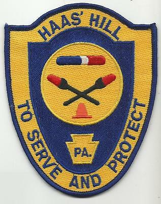Haas Hill PENNSYLVANIA PA Police patch
