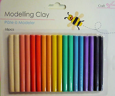 18 Piece Modelling Clay (Plasticine) Play Dough Set - 18 Different Colours