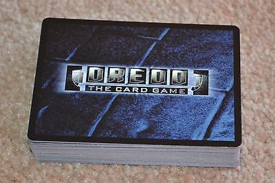 Dredd the Card Game (120) with two Rare Cards (From the Ltd Edition Core Pack)