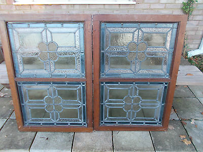 Antique Stained Glass Windows In Original Frames
