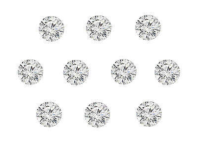 10pc 0.13cts Total 1.4mm Natural Loose Brilliant Diamond Lot G Color SI Clarity