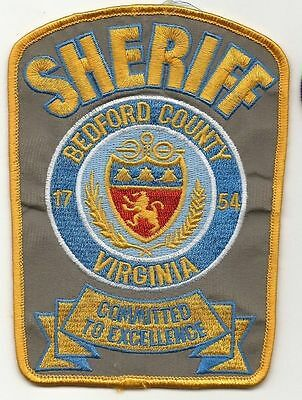 Bedford County VIRGINIA VA Police Sheriff patch old