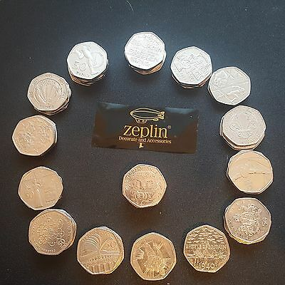 15 Different STARTER Packs for New Collector 50p Fifty Pence Coin from 5.99 Hunt