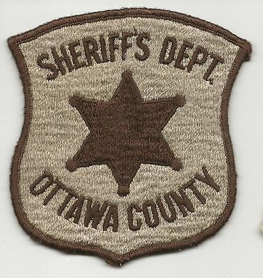 Ottawa County MICHIGAN MI Police Sheriff patch OLD FULLY EMBROIDERED