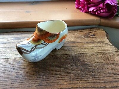 "Beautiful Art Deco Bizarre Clarice Cliff Rare Clog Vase ""Rhodanthe"" Design Vgc"
