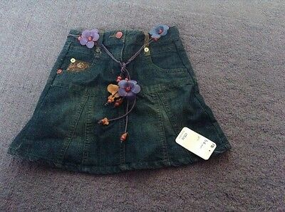 mothercare denim skirt brand new with tags 5-6 years