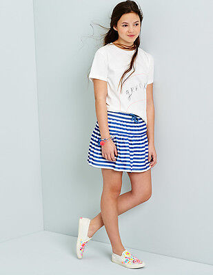 Johnnie b Girls Jersey Skirt Stripped Blue & White Age 11-12 Years box5538 M