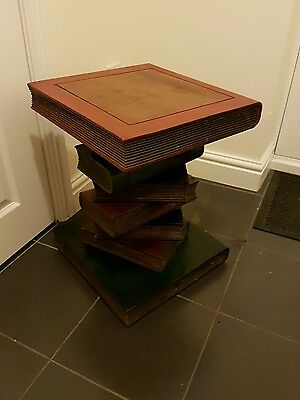 Solid wood BOOK style side table