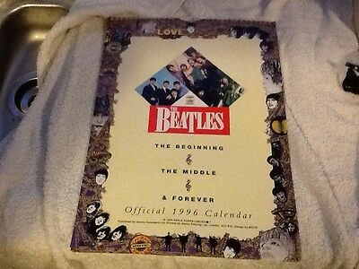 the beatles official 1996 calender unused