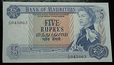 5 Rupees Banknote - Bank of Mauritius ND (1967) - Pick 30c ► ► UNC ◄◄