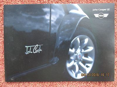 Rover Mini John Cooper LE Limited Edition 1999 UK Market Foldout Sales Brochure