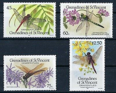 Grenadines St Vincent - Insectes - 4 Valeurs - Neuf**
