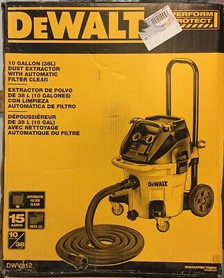 *new* Dewalt Dwv012 10 Gallon (38L) Dust Extractor With Automatic Filter Clean