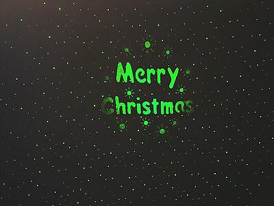 2in1 - Green Static Laser and Green Merry Christmas Light Projector