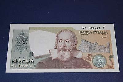 1973 Bank Of Italy 2000 Lire Bank Note SN#VA 406923H  Ex Condition