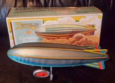 ZEPPELIN WIND UP TOY REPRO OF 20's TOY NEW IN BOX